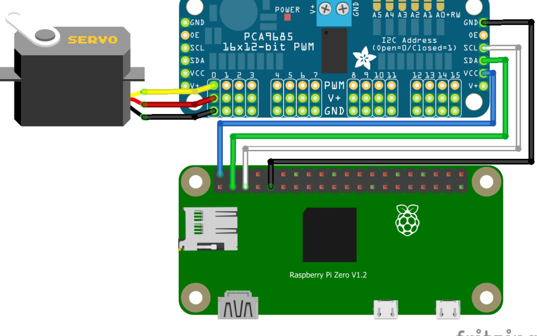 Using a PCA9685 module with Raspberry Pi