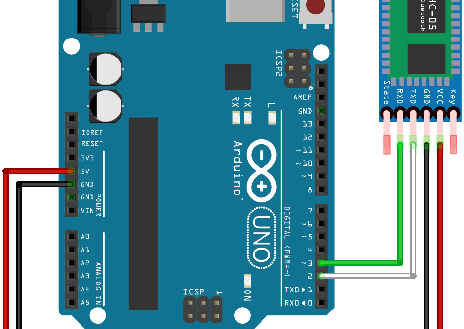 Arduino and Bluetooth module HC-05