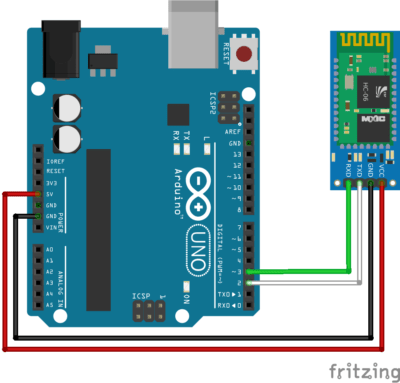 arduino and hc06