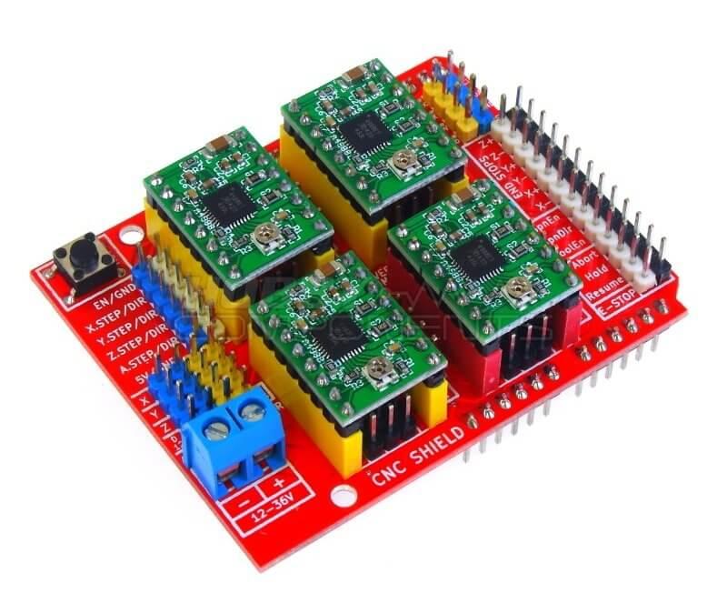 Utilisation d'un Arduino CNC Shield V3