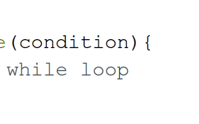 Summary on instruction while in C