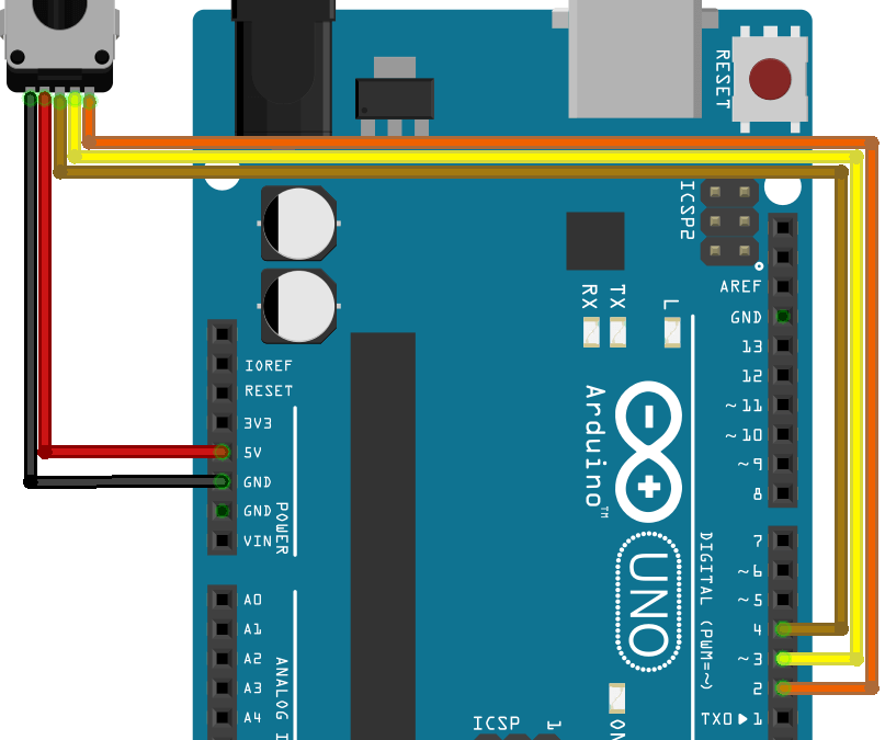 Using a Rotary Encoder with Arduino