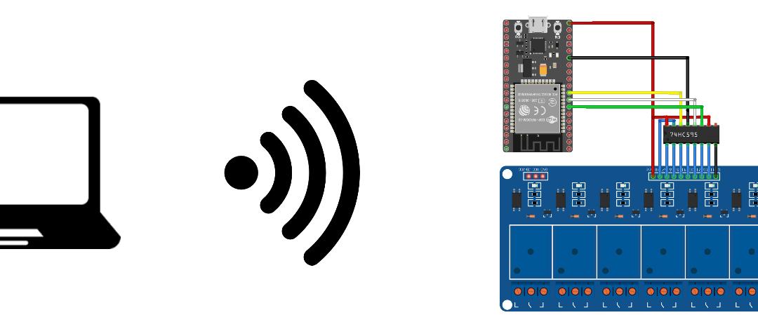 Controla 8 relés mediante ESP32 y una interfaz web