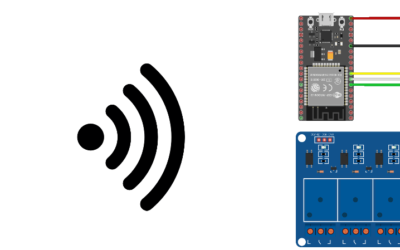 Control 8 relays using ESP32 and a web interface