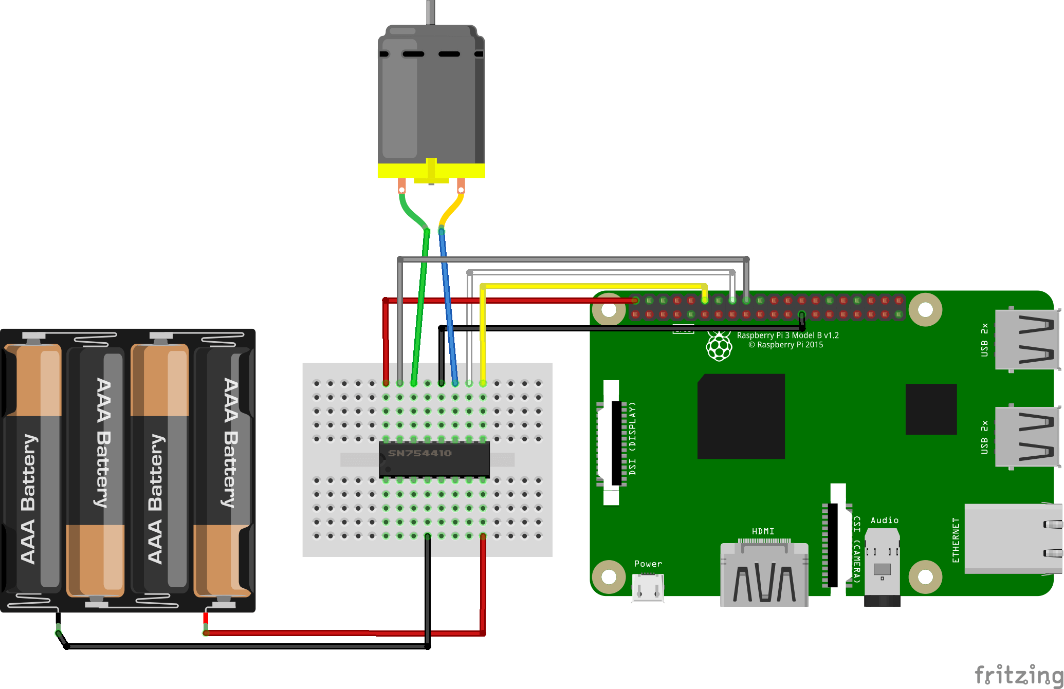 Control A Dc Motor With Raspberry Pi Aranacorp Bridge Pwm Driver Amplifier It Is Such Complete Hbridge Depending On The Power Required For Voltage Output Of May Be Used But Strongly Advised To Use An External Supply