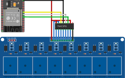 Controlling 8 relays with ESP32 and shift register