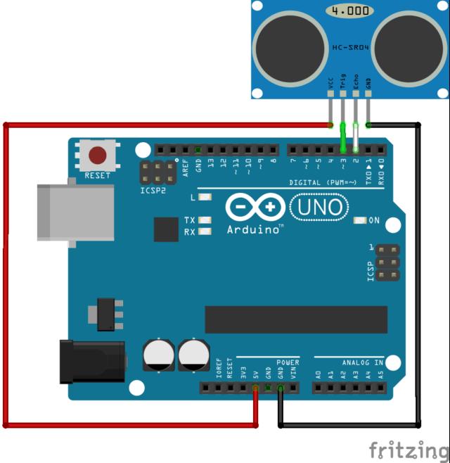 HC-SR04 arduino schematics