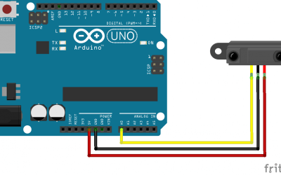Using a distance sensor GP2Y0A21 with Arduino