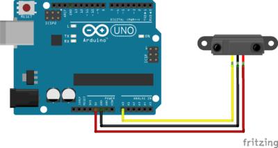 Utilisation d'un capteur de distance GP2Y0A21 avec Arduino