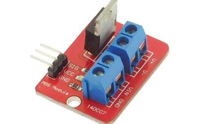 Utilisation d'un module transistor avec Arduino