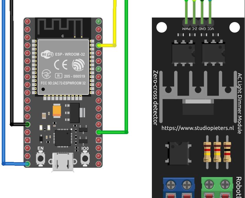 Utilisation d'un variateur de tension AC avec ESP32