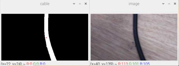 Détection d'un câble avec Python et OpenCV