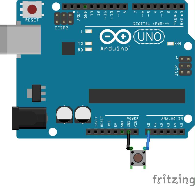 Arduino push button Interfacing Rotary