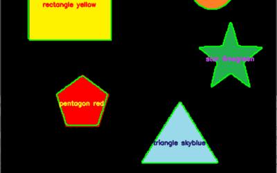 Reconnaissance de forme et de couleur avec Python