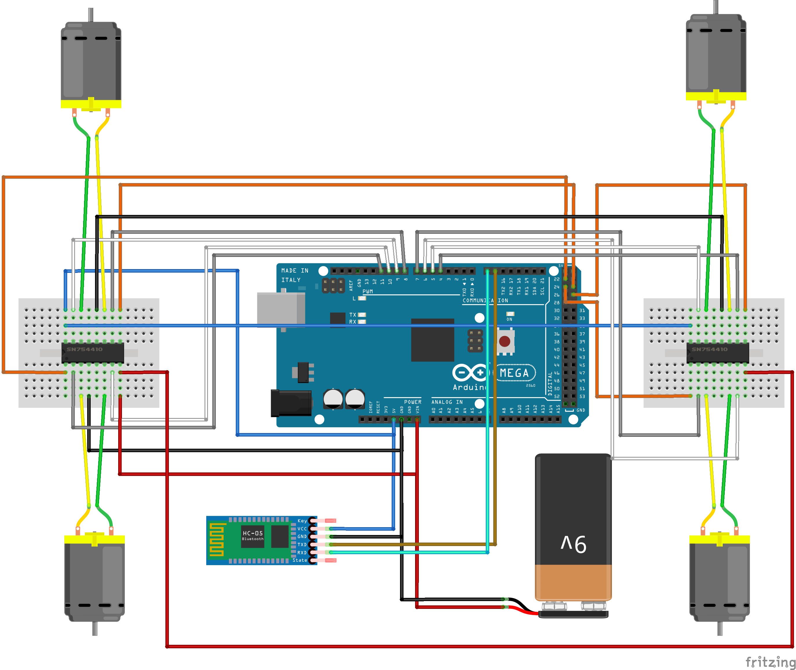 rovy arduino bluetooth schematics