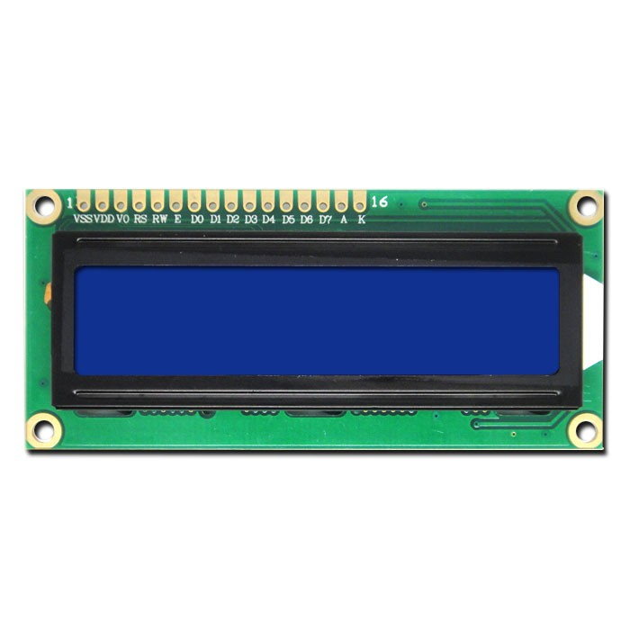 16x2 liquid crystal display