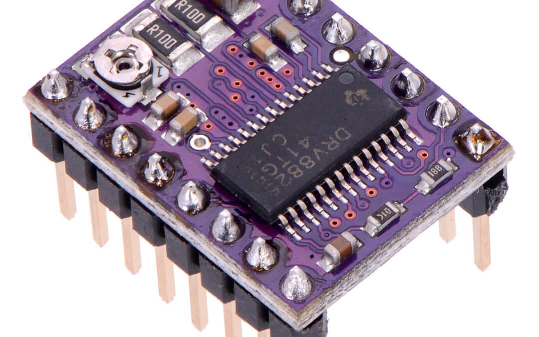 Utilisation d'un contrôleur de moteur pas-à-pas DRV8825