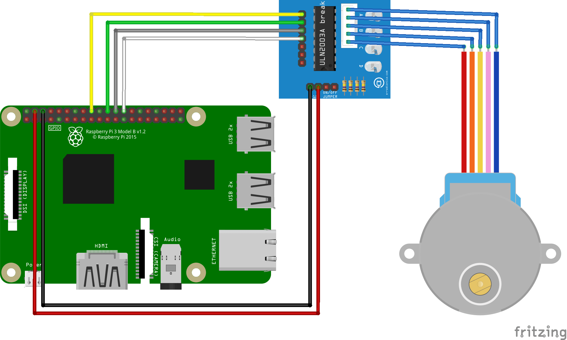 Control a stepper with RaspberryPi • AranaCorp